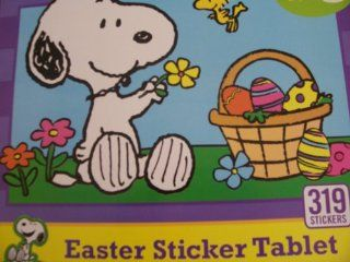 Peanuts Snoopy Easter Sticker Tablet ~ 319 Stickers Toys & Games