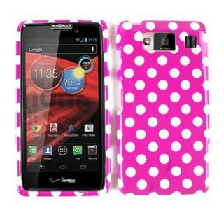 For Motorola Droid Razr Maxx Hd Xt926 White Dots On Hot Pink Case Accessories Cell Phones & Accessories