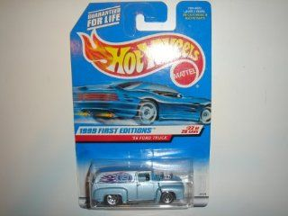 1999 Hot Wheels First Editions '56 Ford Truck Ice Blue #927 Toys & Games