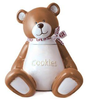 Beary Special Treats Large 13.5 Inch Ceramic Teddy Bear Cookie Jar by Gund Kitchen & Dining