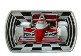 Indy Race Car Colored Novelty Belt Buckle Clothing