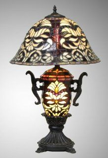 "Elegant Tiffany Style Large table Lamp 27""high"