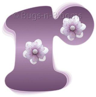"""r"" Purple Daisy Flower Alphabet Letter Name Initial Wall Sticker   Decal Letters for Children's, Nursery & Baby's Room Decor, Baby Name Wall Letters, Girls Bedroom Wall Letter Decorations, Child's Names. Flowers Mural Walls Decal"