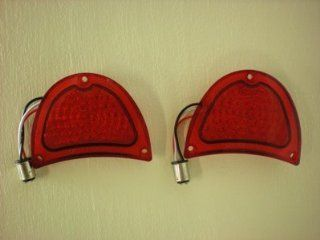 1957 Chevy 57 Chevrolet 51 LED Stop Turn Tail Lights   Fits Existing Housing Automotive