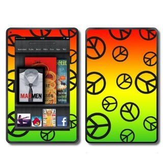 Kindle Fire Skins Kit   Peace Signs Logos Love Colorful   Skins Decals. (This will only fit the Kindle Fire).