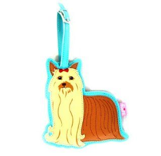 Yorkshire Terrier Dog Luggage Tag by Fluff