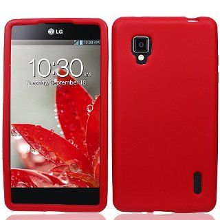 Red Soft Silicone Gel Skin Cover Case for LG Optimus G LS970 Cell Phones & Accessories