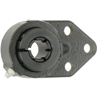 "Sealmaster FB 16T Standard Duty Flange Bracket, 3 Bolt, Regreasable, Felt Seals, Skwezloc Collar, Cast Iron Housing, 1"" Bore, 4 3/4"" Overall Length, 3/8"" Flange Height, �2 Degrees Misalignment Angle Flange Block Bearings Industrial & S"
