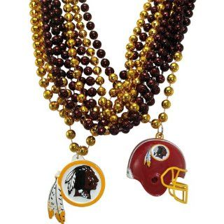 NFL Washington Redskins Team Medallion, Mini Helmet and Mardi Gras Bead Set  Sports Fan Necklaces  Sports & Outdoors