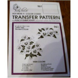 Hot Iron Transfer Pattern #961 Poppy Boquets (For Punch Embroidery, Needlepoint Canvas, Textile Painting & Other Crafts) Pretty Punch Books