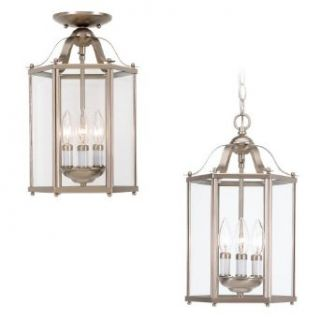 Sea Gull Lighting 5231 962 Bretton Three Light Pendant, Brushed Nickel Finish with Clear Glass   Ceiling Pendant Fixtures