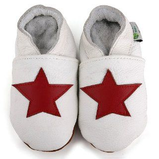 Augusta Baby Red Star Soft Sole Leather Baby Shoe (18 24 mo) Crib Shoes Shoes
