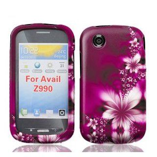 ZTE Avail Z990 Z 990 Rose Red Floral Flowers Design Snap On Hard Protective Cover Case Cell Phone Cell Phones & Accessories