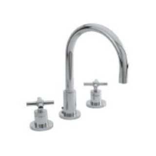 Newport Brass 990/10 East Linear Double Handle Widespread Lavatory Faucet with Metal Cross Handles (L, Satin Bronze