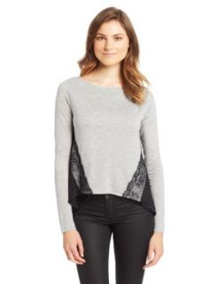 Heather Women's Long Sleeve Lace CB Top