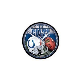 Indianapolis Colts NFL Wall Clock  Sports Fan Wall Clocks  Sports & Outdoors