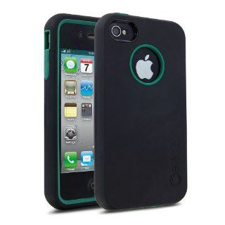 Cellairis Rapture Full Moon Cases for Apple iPhone 4 / 4S   Black / Turquoise Cell Phones & Accessories