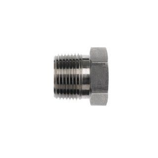 Brennan 5406 04 02 Steel Pipe Fitting, Bushing, 1/4 18 NPTF Male x 1/8 27 NPTF Female Industrial Pipe Fitting