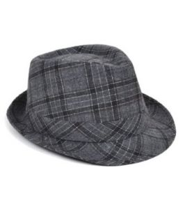 North Country Plaid Fedora Hat, Lavender, L/XL at  Men�s Clothing store