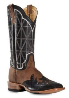 Cinch Men's Classic Mad Dog Stained Glass Wingtip Cowboy Boot Square Toe Shoes