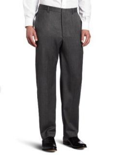 Joseph Abboud Men's Herringbone Flat Front Dress Pant, Grey, 32x30 at  Men�s Clothing store