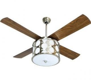 "Craftmade LA56PLN Lauren 56"" circle fan  ;PLN (blades included) PLN  Polished Nickel   Wall Sconces"