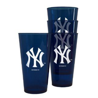 MLB New York Yankees Plastic Pint Cups, Pack of 4  Ny Yankee Plastic Glass  Sports & Outdoors