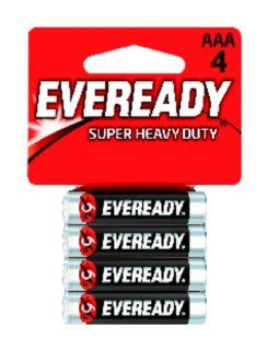 Eveready Super Heavy Duty Batteries, AAA, 4 Count Health & Personal Care