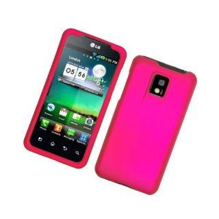 Hot Pink Hard Cover Case for LG G2X P999 Cell Phones & Accessories