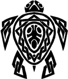 Sea turtle tribal water monster vinyl window decal sticker 009. Sports & Outdoors