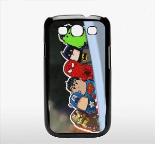 Iron Man Superman spider man Batman Crooked neck   Samsung Galaxy S3 I9300 Case hard Cover   black Cell Phones & Accessories