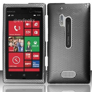 Nokia Lumia 928 Case Classy Carbon Fiber Design Hard Cover Protector (AT&T) with Free Car Charger + Gift Box By Tech Accessories Cell Phones & Accessories