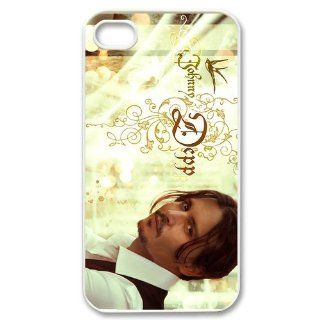Custom Johnny Depp Cover Case for iPhone 4 WX2882 Cell Phones & Accessories