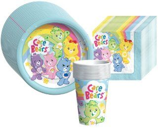 Care Bears Happy Days Supplies Pack Including Plates, Cups, and Napkins  16 Guests Toys & Games