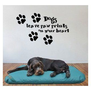 Dogs leave paw prints on your heart, Giant Wall Art, Mural, Large, Decal, Sticker, WA204   Black   Size 29.5in 75cm (W) X 17.75in 45cm (H)   Small   Item Type Keyword Wall Decor Stickers