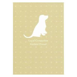 Pet Sympathy Greeting Card   Dog Silhouette Health & Personal Care