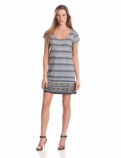 Lucky Brand Women's Irving and Fine T Shirt Dress, American Navy Multi, Small