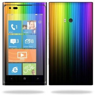 Protective Vinyl Skin Decal Cover for Nokia Lumia 900 4G Windows Phone AT&T Cell Phone Sticker Skins Rainbow Streaks Cell Phones & Accessories