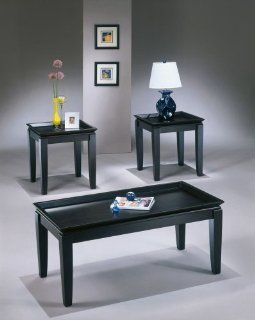 Contemporary Almost Black Occasional Table SEt   Coffee Tables