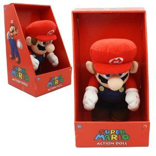 Nintendo Super Mario 12 Inch Pose able Plush Mario Action Doll Toys & Games