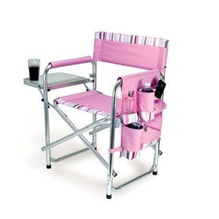 Picnic Time Portable Folding Sports Chair, Pink  Folding Patio Chairs  Sports & Outdoors