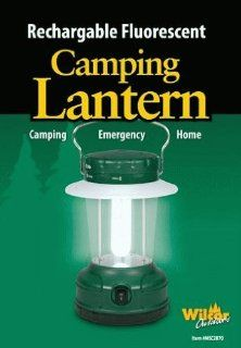Camping Fluorescent Lantern Light ((Rechargeable)) (Also Includes 12v Car Adapter)  Electric Camping Lanterns  Sports & Outdoors