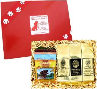 Rise and Shine Pet Gift for Every Dog Lover Who Also Loves Great Coffee All Natural Gourmet Dog Treats, and Kona Hawaiian Coffee for You