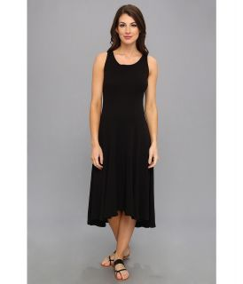 Three Dots Seamed High Low Sleeveless Dress Womens Dress (Black)