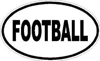 "10"" Football euro oval printed vinyl decal sticker for any smooth surface such as windows bumpers laptops or any smooth surface."