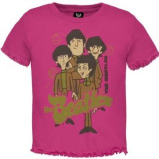 The Beatles   Baby girls Cartoon T shirt   4t Pink Infant And Toddler T Shirts Clothing