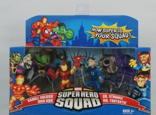 Super Hero Squad the Secret Invasion Begins  Iron Man, Skrull, Dr. Strange, Mr. Fantastic 4 Pack Toys & Games
