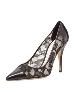 kate spade new york liberty lace point toe pump, black