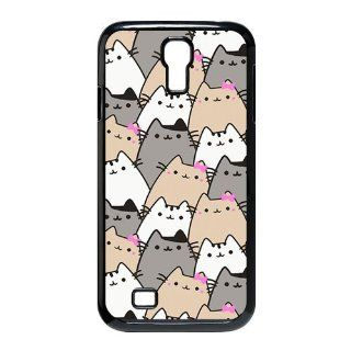 Custom Because Cats Cover Case for Samsung Galaxy S4 I9500 S4 305 Cell Phones & Accessories