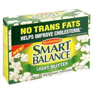 Smart Balance Deluxe Microwave Popcorn, Light Butter, 3 Count Box of 3 Ounce Bag (Pack of 6)  Grocery & Gourmet Food